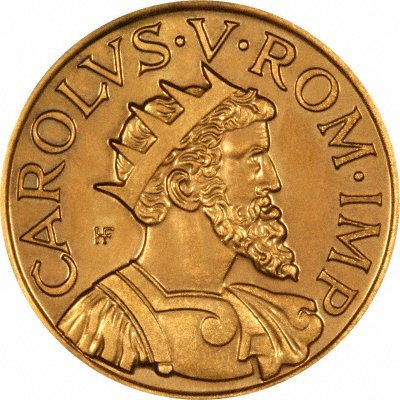 Charles V on 1952 Geneva European Capital of Culture Medallion