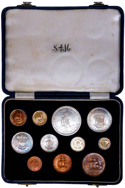 1952 south african eleven coin proof set chards tax free gold