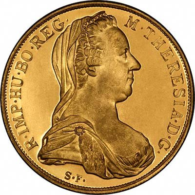 Maria Theresia on Obverse of 1953 Geneva European Cultural Centre Gold Medal