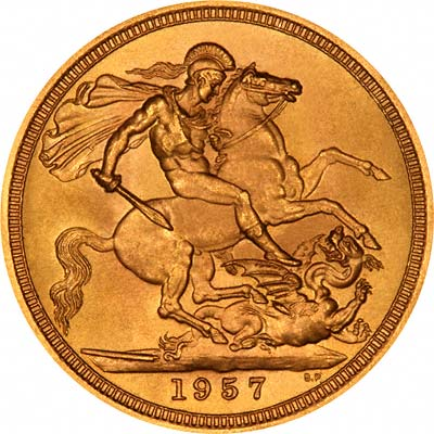 Reverse of 1957 Sovereign