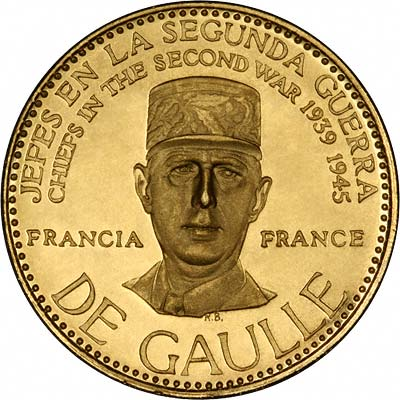 Charles de Gaulle on Venezuelan Chiefs of WWII Gold Medal