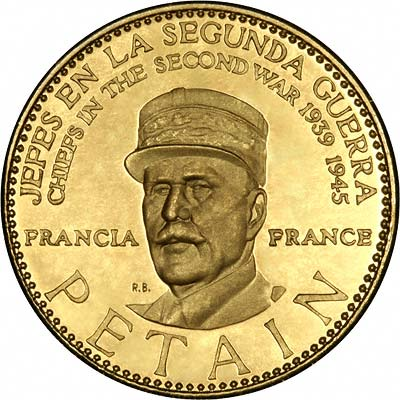 H. Philippe Petain on Venezuelan Chiefs of WWII Gold Medal