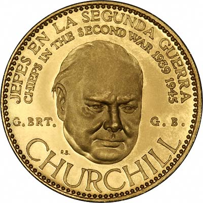 Sir Winston Spencer Churchill on Venezuelan Chiefs of WWII Gold Medal