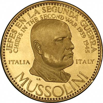 Benito Mussolini on Venezuelan Chiefs of WWII Gold Medal
