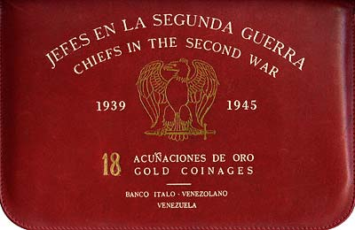 Leather Case for Venezuelan Chiefs of WWII Gold Medals