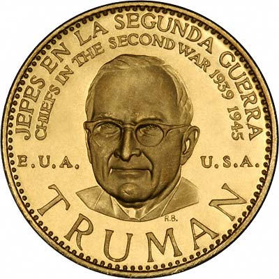 Harry Truman on Venezuelan Chiefs of WWII Gold Medal
