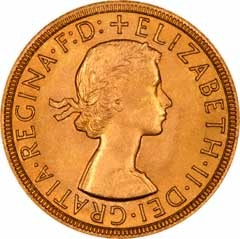 Obverse of Year 2000 Gold Sovereign