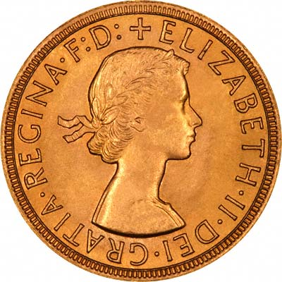 Our 1963 Gold Sovereign Obverse Photograph