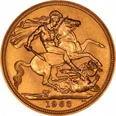 Reverse of Gold Sovereign