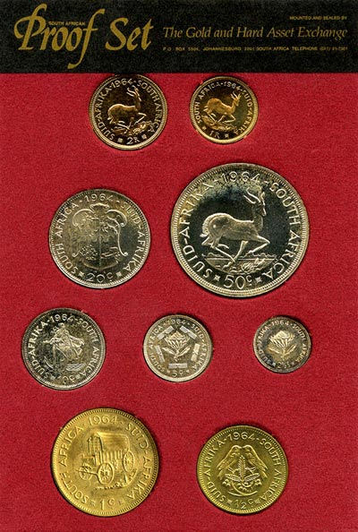 1964 South African Nine Coin Proof Set