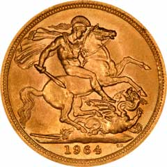 Reverse of Year 2000 Gold Sovereign