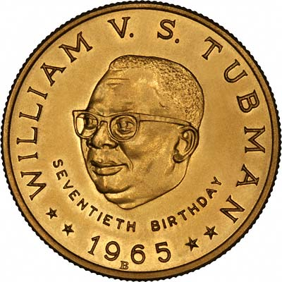 1965 Liberian 25 Gold Coin Chards Tax Free Gold