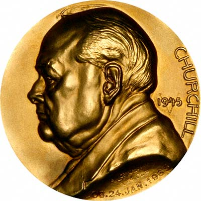 1965 Churchill Memorial Gold Medal By B A Seaby Of London