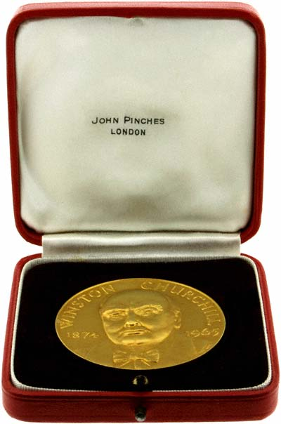 1965 Winston Churchill Gold Medallion By John Pinches
