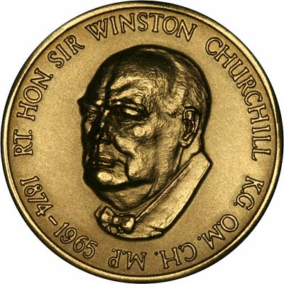 1965 Winston Churchill Gold Medal By Edward Jones
