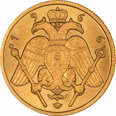 Reverse of 1966 Cyprus Half Sovereign