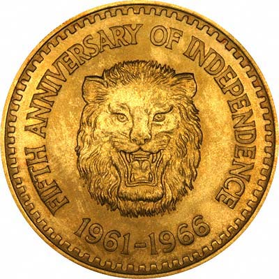 Obverse of 1966 Sierra Leone 1 Golde