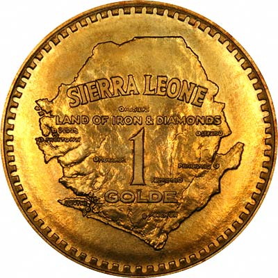 Reverse of 1966 Sierra Leone 1 Golde
