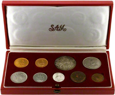 1968 South African Nine Coin Proof Set