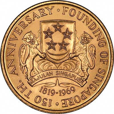 Obverse of 1969 Singapore Gold $150