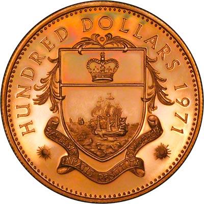 1971 Bahamas Gold Coin Proof Coin Set