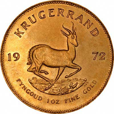 Reverse of One Ounce Krugerrand