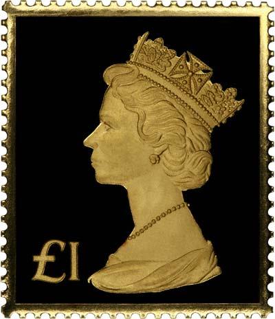 1973 163 1 Machin Amp Penny Black Gold Definitive Stamp Replicas