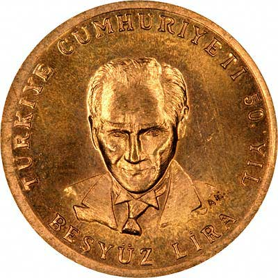 Obverse of 1973 500 Lire