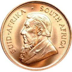 Obverse of One Ounce South African Krugerrand