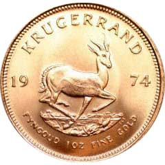 Reverse of One Ounce South African Krugerrand