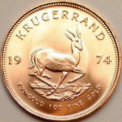 Our 1974 One Ounce Krugerrand Reverse Photograph