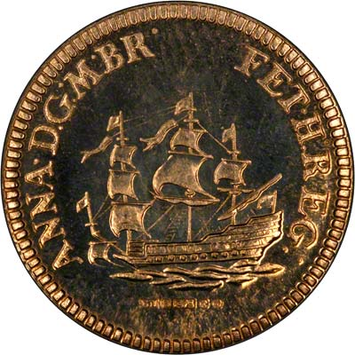 Obverse of Queen Anne Touchpiece