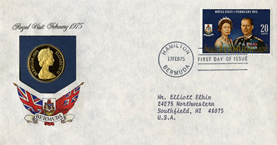 Obverse of Royal Visit $100 in First Day Cover