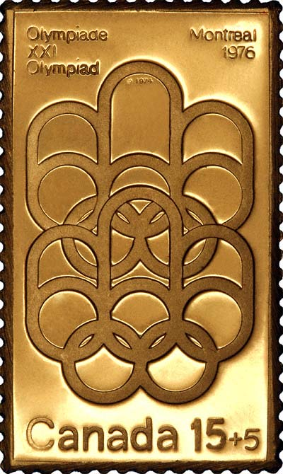 1976 Canadian Olympic Gold Silver And Bronze Stamp Replica