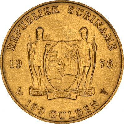 Save the Children Reverse of 1991 Suriname 250 Guilders