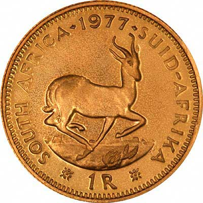 Reverse of South African Proof One Rand