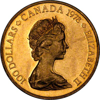 1978 Canadian Gold Proof 100 Canadian Unification