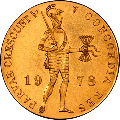 Obverse of 1978 Netherlands One Ducat