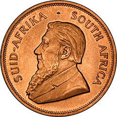 Obverse of One Ounce South African Krugerrand Coin
