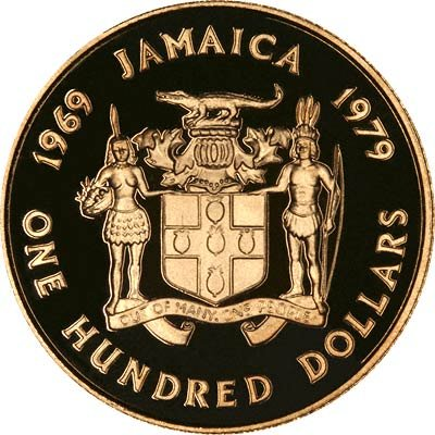 1979 Jamaican Gold Coin Prince Charles 10th Anniversary