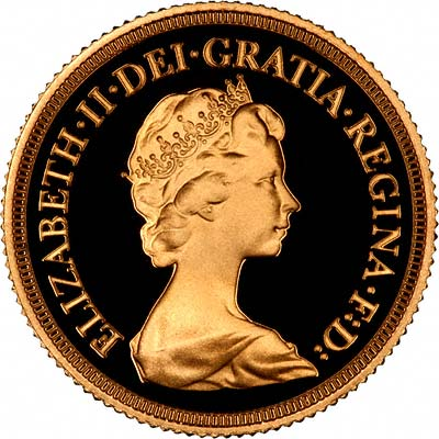 Obverse of 1979 Proof Sovereign
