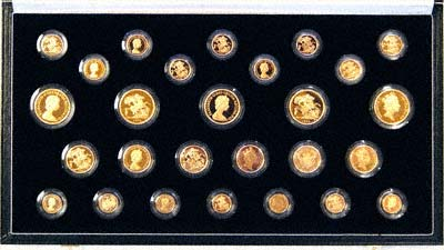 1979 to 1987 Complete Collection of 27 Gold Proof Coins