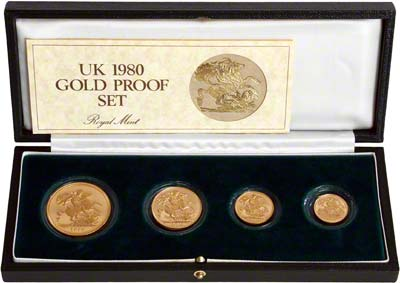 1980 British Gold Coin Proof Set Chards Tax Free Gold