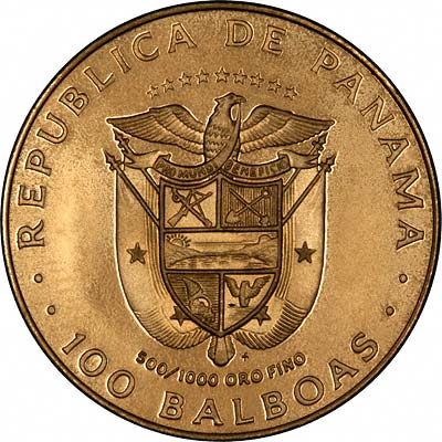 1980 Panama 100 Balboas Gold Coins Chards Tax Free Gold