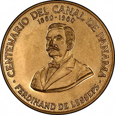 Reverse of Panama 100 Balboas of 1980