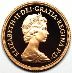 Obverse of 1976 Sovereign