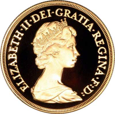 Obverse of 1981 Five Pounds