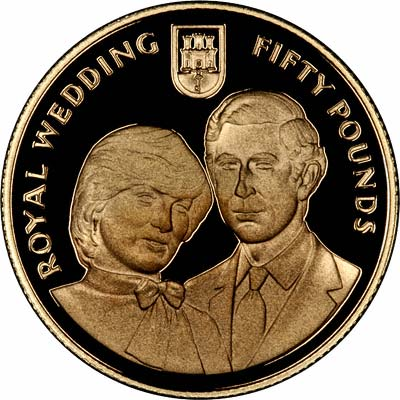 1981 Gibraltar Prince Charles And Lady Diana Gold Coin