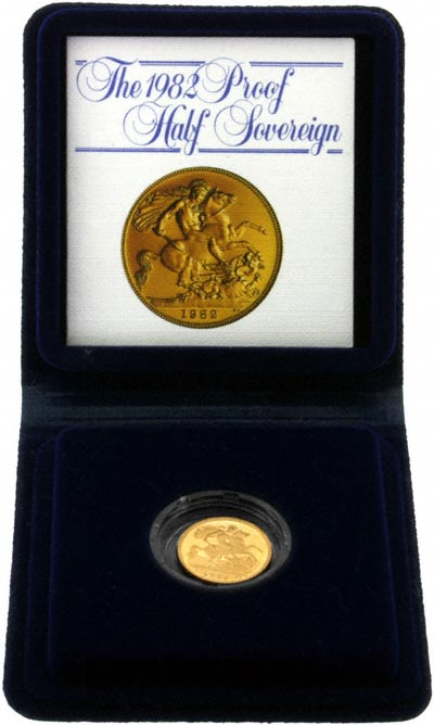 1982 Proof Half Sovereign in Presentation Box