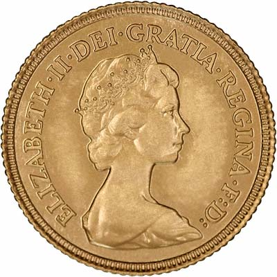 Obverse of 1982 Uncirculated Half Sovereign